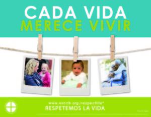 2015-16 Respect Life Program poster - Spanish