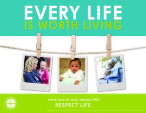 2015-16 Respect Life Program poster - English